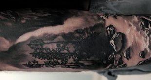 70 Waterfall Tattoo Designs für Männer - Glitzernde Tinte Ideen