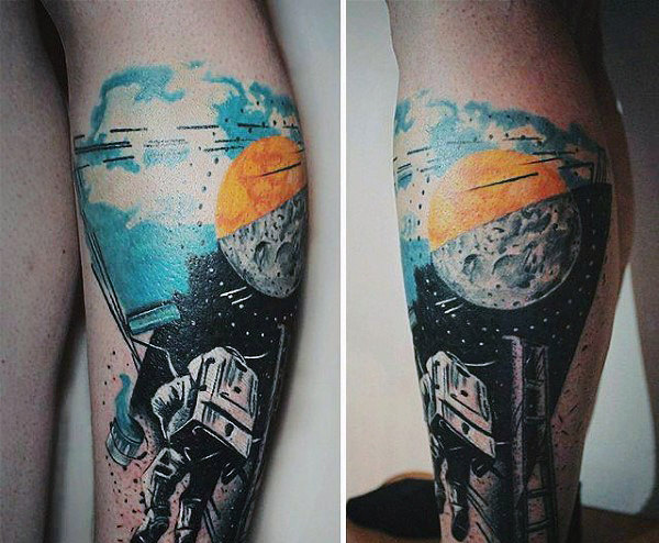 70 Weltraum Tattoos für Männer - Galaxy Cluster und Konstellationen
