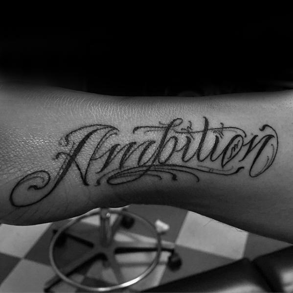 30 Ambition Tattoo Design-Ideen für Männer - Word Ink Ideas
