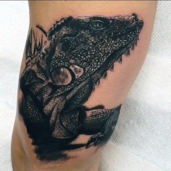 50 Iguana Tattoo Designs für Männer - Reptil-Tinte Ideen