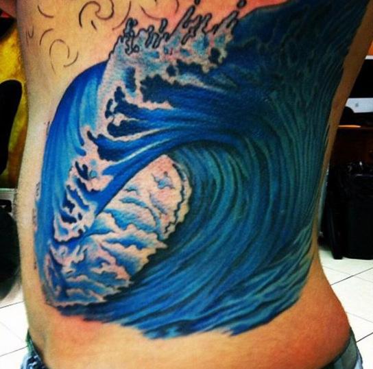 60 Wave Tattoo Designs für Männer - ein Ozean von Manly Ideen