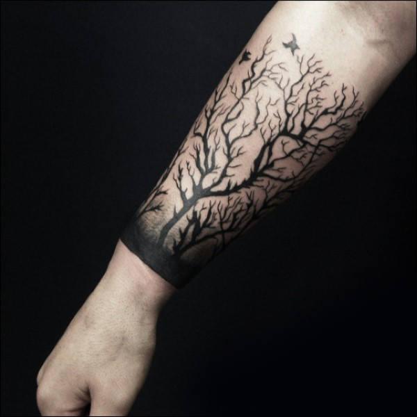 60 Unterarm Baum Tattoo Designs Fur Manner Forest Ink Ideen Mann