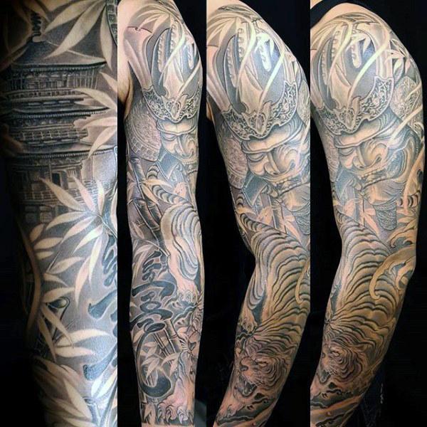 50 Bambus Tattoo Designs für Männer - Lush Greenery Ink Ideen
