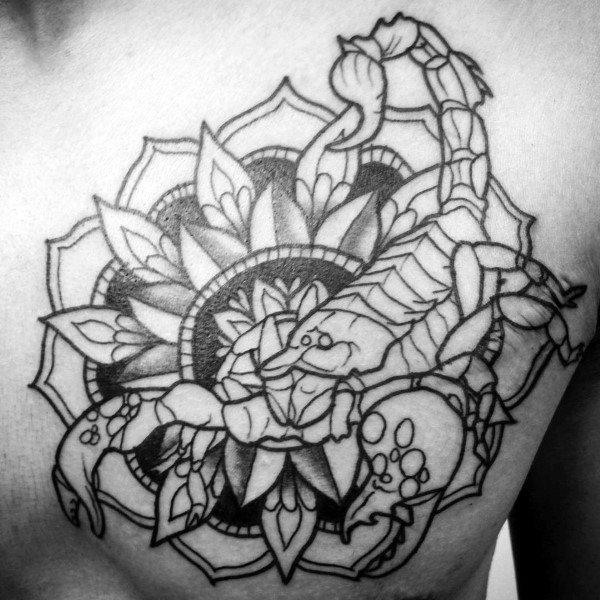70 Skorpion Tattoo Designs für Männer - Sternzeichen-Ideen