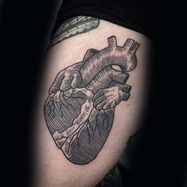 80 Holzschnitt Tattoo Designs für Männer - eingraviert Tinte Ideen