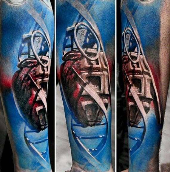 50 Granate Tattoo Designs für Männer - Explosive Ink Ideen