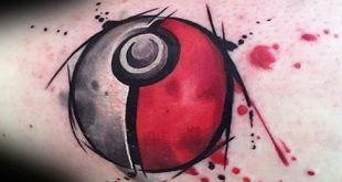 50 Pokeball Tattoo Designs für Männer - Pokemon Ink Ideen