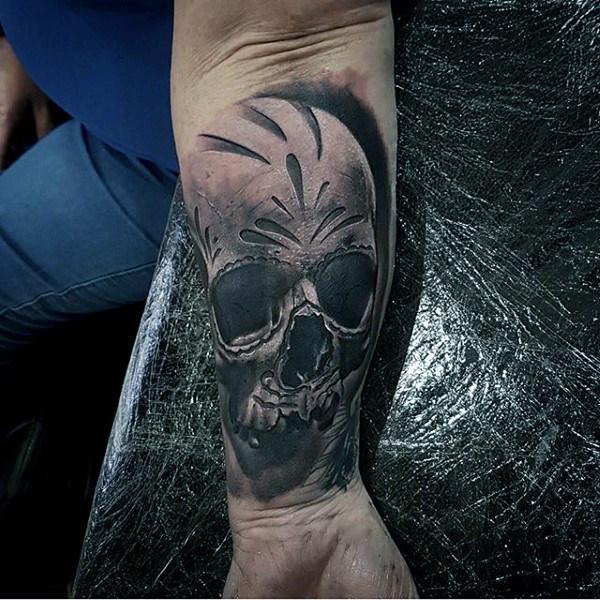 100 Sugar Skull Tattoo Designs Fur Manner Coole Calavera Ink Ideen