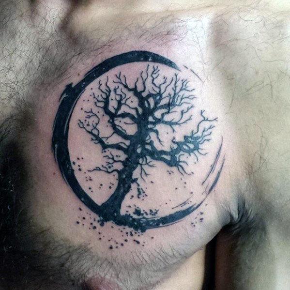 50 kleine Brust Tattoos für Jungs - Masculine Ink Design-Ideen