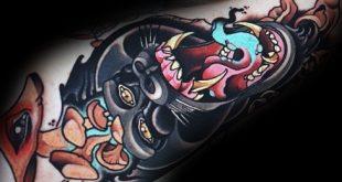 20 Neo traditionelle Gorilla Tattoo Designs für Männer - Ape-Tinte Ideen