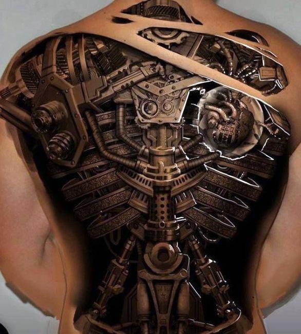50 Mechaniker-Tattoos für Männer - Männliche Roboterüberholungen