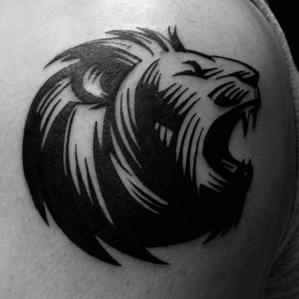 40 Tribal Lion Tattoo Designs für Männer - Mighty Feline Ink Ideen