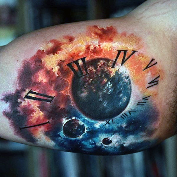 90 Astronomie Tattoos für Männer - Maskuline Design-Ideen