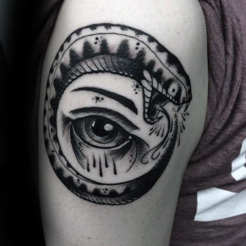 75 Ouroboros Tattoo Designs für Männer - Circular Ink Ideen