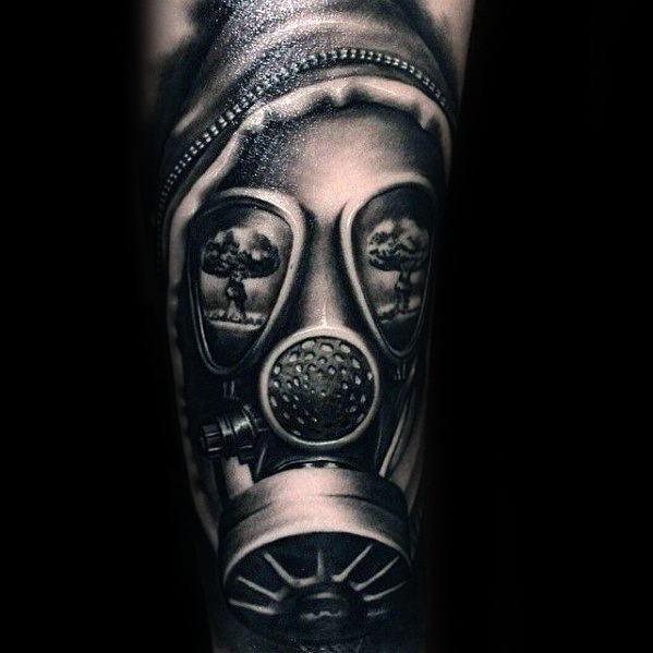 30 Pilz Cloud Tattoo Designs für Männer - Atomic Ink Ideen