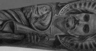 40 St Jude Tattoo Designs für Männer - religiöse Tinte Ideen