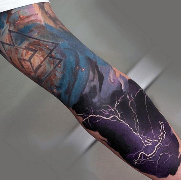 Top 80 besten abstrakten Tattoos für Männer - Designs mit einer künstlerischen Mentalität