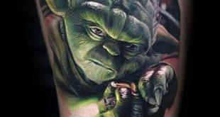 60 Yoda Tattoo Designs für Männer - Jedi Master Ink Ideen