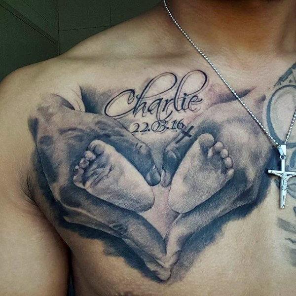 Top 60 besten Footprint Tattoos für Männer - Ink Design-Ideen