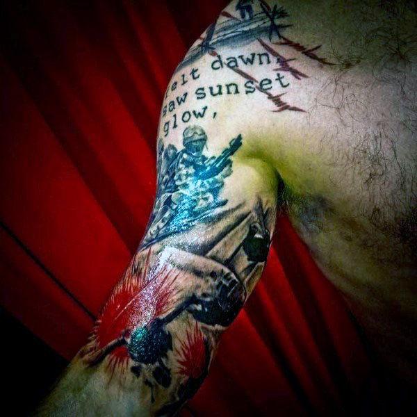 60 Half Sleeve Tattoos für Männer - Manly Designs und Meisterwerke