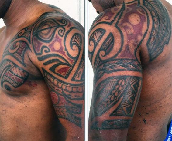 60 Hawaiian Tattoos für Männer - traditionelle Stammes-Tinten-Ideen