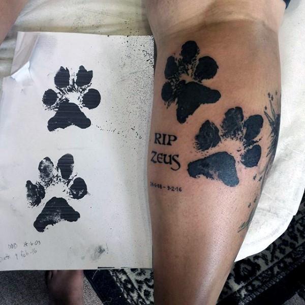 70 Hundetatze Tattoo Designs für Männer - Canine Print Ink Ideen