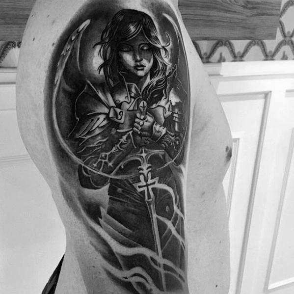 60 Valkyrie Tattoo Designs für Männer - nordischen Mythologie Tinte Ideen