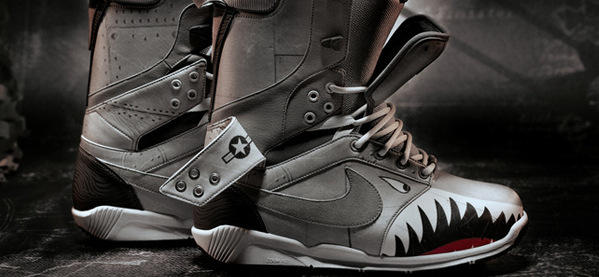 Nike Special Edition Zoom DK QS Shark Gesichts Snowboardstiefel