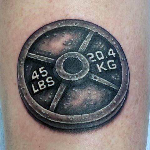 40 Barbell Tattoo Designs für Männer - Bodybuilding Ink Ideen