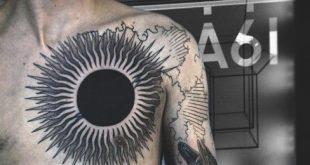 70 Sun Tattoo Designs für Männer - ein Symbol für Wahrheit und Licht
