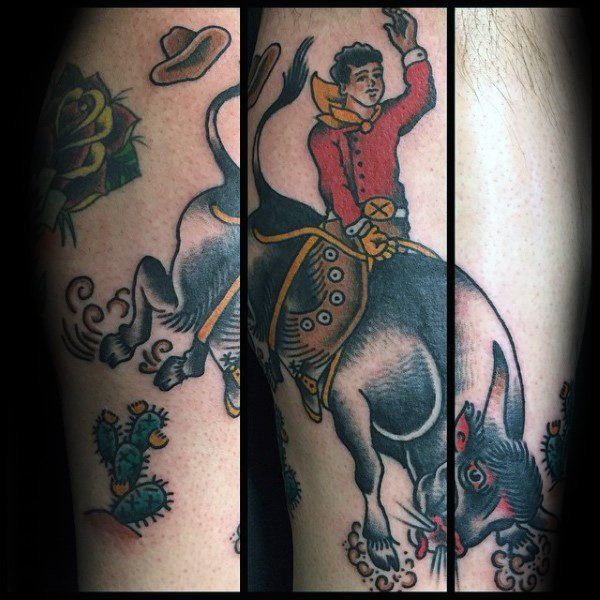 40 Rodeo Tattoo Designs für Männer - Bocken Bronco Ink Ideen