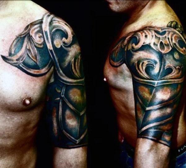 Top 90 besten Rüstung Tattoo-Designs für Männer - werden eine Walking Fortress