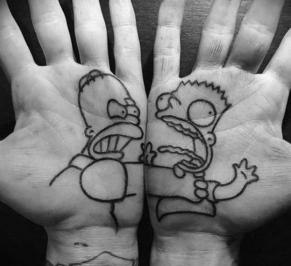 70 Cartoon Tattoos für Männer - Animation Ink Design-Ideen