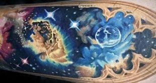 60 Nebula Tattoo Designs für Männer - interstellaren Wolken Ideen