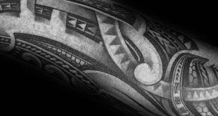 40 polynesischen Unterarm Tattoo-Designs für Männer - männliche Stammes-Ideen