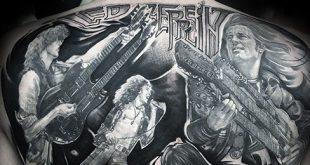 60 Led Zeppelin Tattoos für Männer - Englisch Rock Band Ink Ideen
