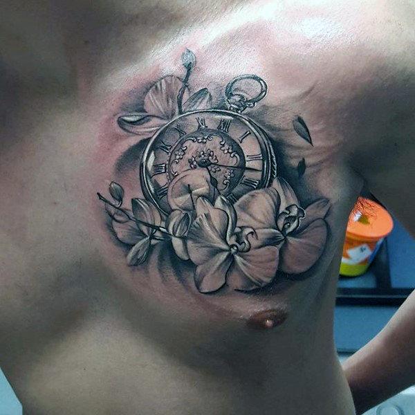 70 Orchidee Tattoos Fur Manner Zeitlose Blumen Design Ideen Mann