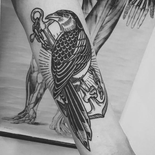 50 Elster Tattoo Designs für Männer - Vogel-Tinte-Ideen