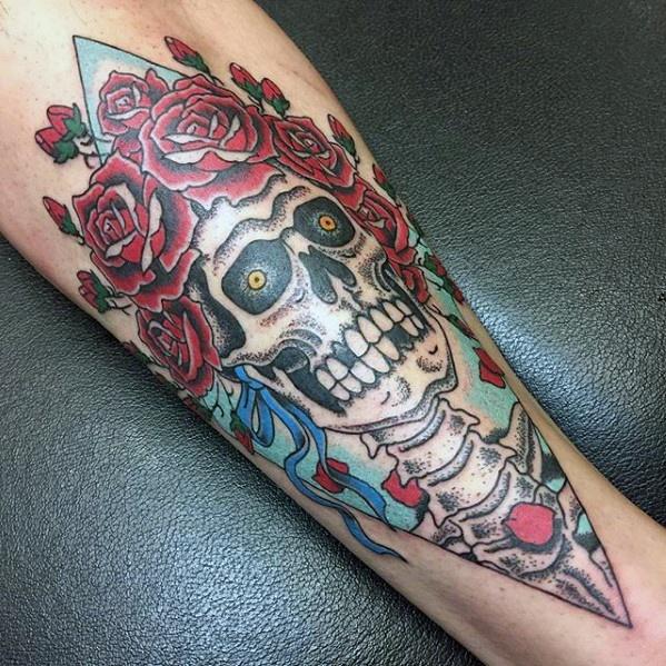 50 Grateful Dead Tattoo Designs für Männer - Rock Band Ink Ideen