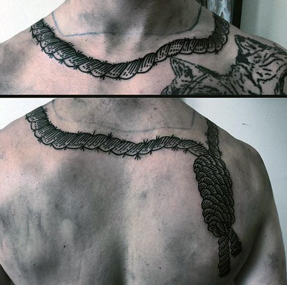 50 Noose Tattoo Designs für Männer - Henker Knot Ink Ideen