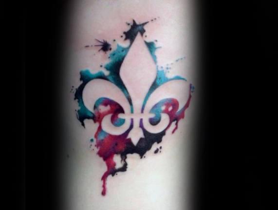 70 Fleur De Lis Tattoo Designs für Männer - stilisierte Lily Ink Ideen