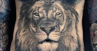 50 realistische Löwen Tattoo Designs für Männer - Felidae Ink Ideen