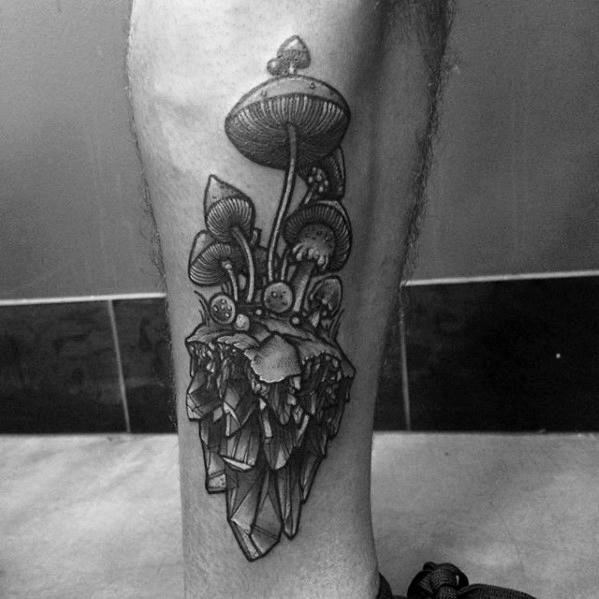 60 Mushroom Tattoo Designs für Männer - Fungus Ink Ideen