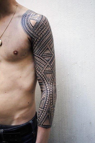 Top 60 besten Tribal Tattoos für Männer - Symbole des Mutes