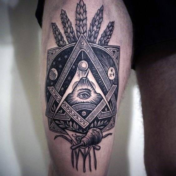 Tattoo Oberschenkel Mann
