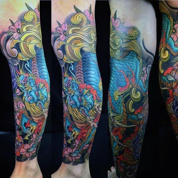 60 Kirin Tattoo Designs für Männer - Hooved Chimerical Kreatur Ideen
