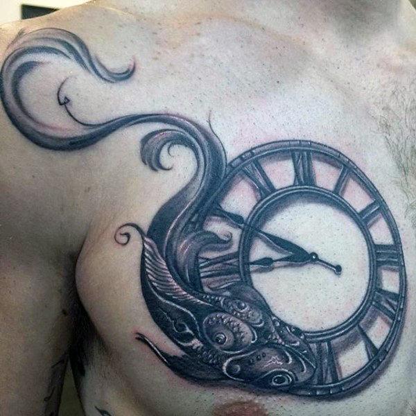 60 Fische Tattoos für Männer - Astrologie Tink Design-Ideen