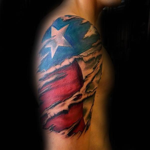 70 Texas Tattoos für Männer - Lone Star State Design-Ideen