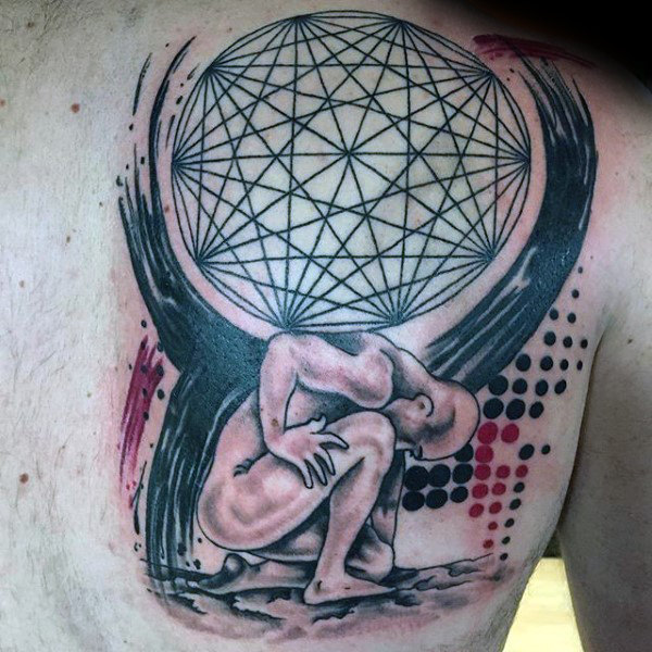 70 Atlas Tattoo Designs für Männer - Manly griechische Tinte Ideen