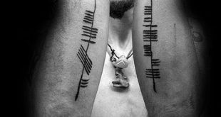 50 Ogham Tattoo Designs für Männer - Ancient Alphabet Ink Ideas